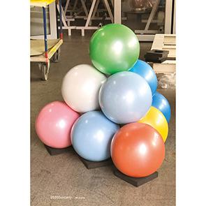 Colored Balls (Pyramid)