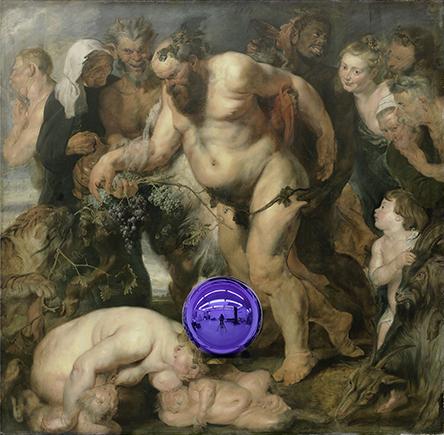 Gazing Ball (Rubens Drunken Silenus)
