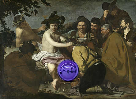 Gazing Ball (Velázquez Triumph of Bacchus)