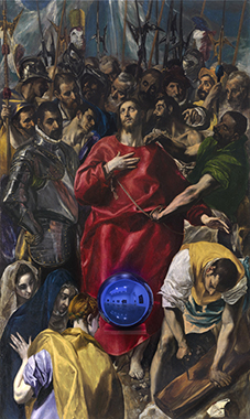 Gazing Ball (El Greco Disrobing of Christ)