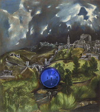 Gazing Ball (El Greco View of Toledo)