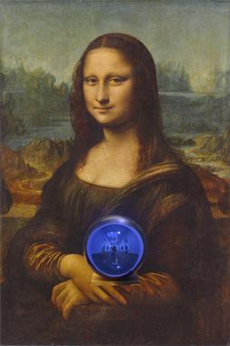 Gazing Ball (da Vinci Mona Lisa)