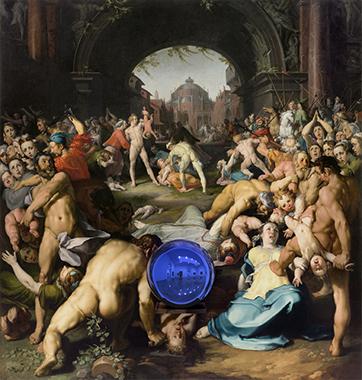 Gazing Ball (van Haarlem Massacre of the Innocents)