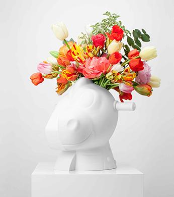 Jeff Koons Artwork Split Rocker Vase