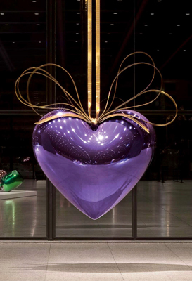Hanging Heart (Violet/Gold)