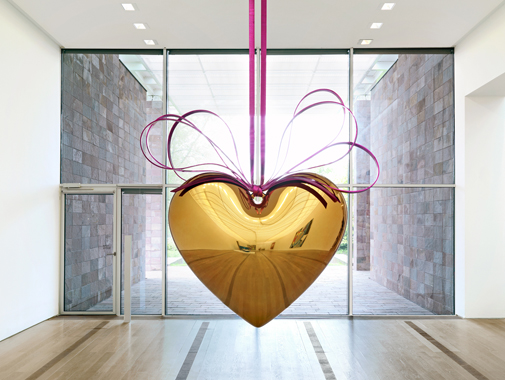 Hanging Heart (Gold/Magenta)