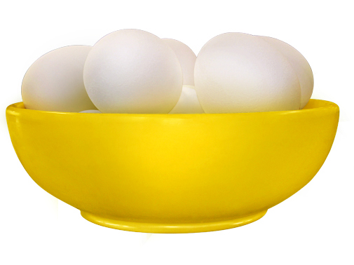 Bowl with Eggs (Yellow)