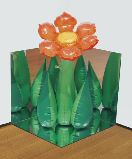 Inflatable Flower (Tall Orange) Corner