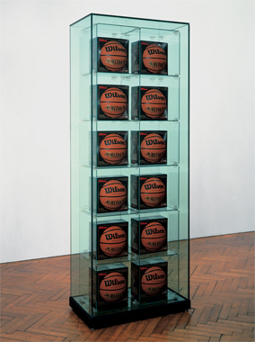 Encased - Two Rows (12 Wilson Michael Jordan Basketballs)