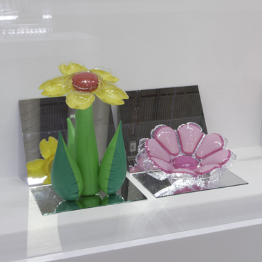 Inflatable Flowers (Tall Yellow, Short Pink)