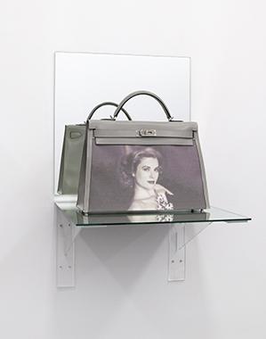 Kelly Bag Gray (Shelf) - Bag donated by HRH Princess Caroline of Hanover