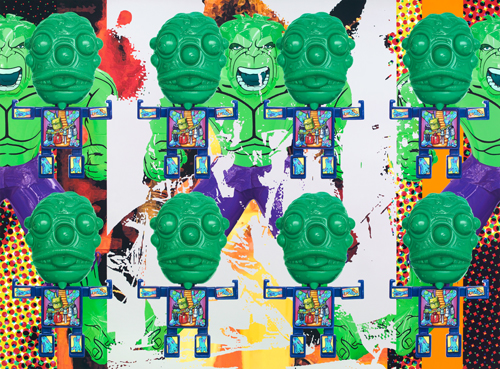 Jeff Koons - Artwork: Triple Hulk Elvis II
