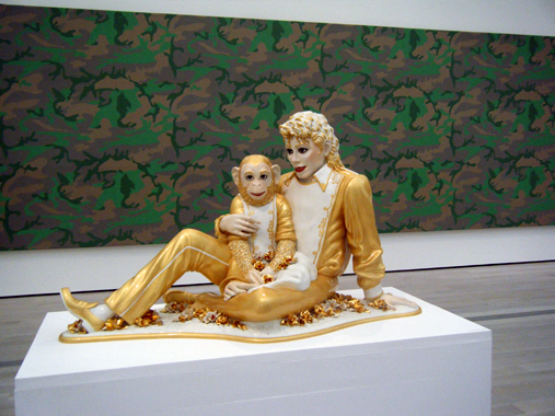Michael Jackson and Bubbles by Jeff Koons. Los Angeles County Museum of Art, Los Angeles, California [February 16 - September 30, 2008]
