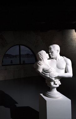 Bourgeois Bust - Jeff and Ilona by Jeff Koons. Mapping the Studio: Artists from the François Pinault Collection, Punta Della Dogana & Palazzo Grassi, 2009-2011