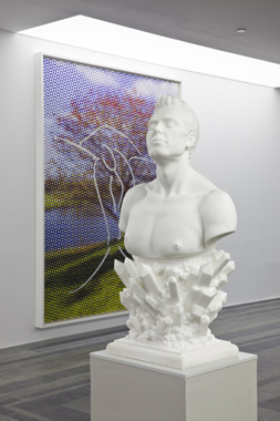 Self-Portrait & Landscape (Cherry Tree) by Jeff Koons. Sexuality and Transcendence, Pinchuk Art Centre, 2010.