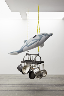 Dolphin by Jeff Koons. Sexuality and Transcendence, Pinchuk Art Centre, 2010.