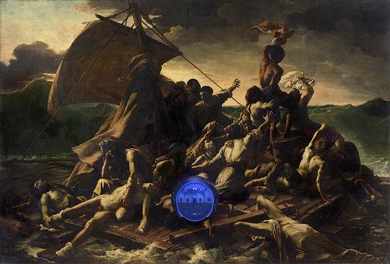 Gazing Ball (Gericault Raft of the Medusa)