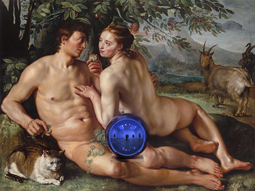 Gazing Ball (Goltzius Fall of Man)