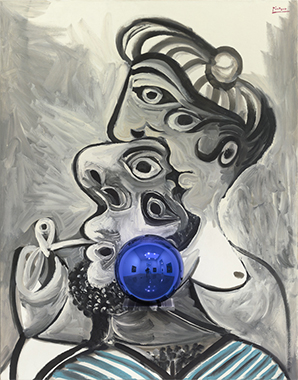 Gazing Ball (Picasso Couple)