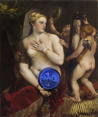 Gazing Ball (Titian Venus with a Mirror)