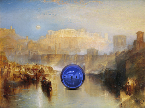 Gazing Ball (Turner Ancient Rome)