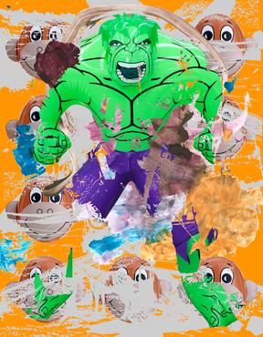Hulk Elvis Monkey Train Swish (Orange)