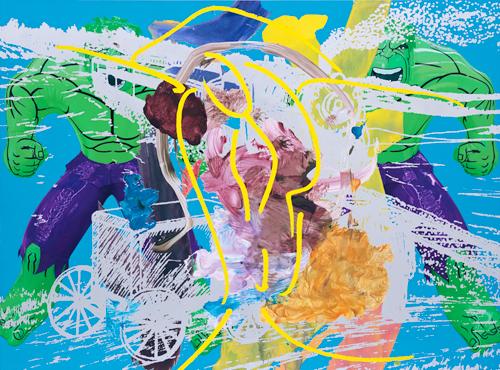 Jeff Koons - Artwork: Double Hulk Elvis Origin Train Swish