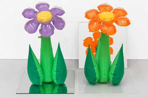 Inflatable Flowers (Tall Purple, Tall Orange)