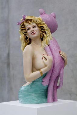 Pink Panther by Jeff Koons. Re-Object, Kunsthaus Bregenz, 2007.