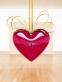 Hanging Heart (Magenta/Gold)