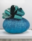Baroque Egg with Bow (Blue/Turquoise)