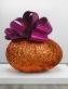 Baroque Egg with Bow (Orange/Magenta)