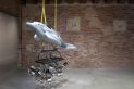 Dolphin by Jeff Koons. In Praise of Doubt, Punta della Dogana, 2011-2012.