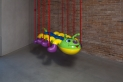 Caterpillar Chains by Jeff Koons. In Praise of Doubt, Punta della Dogana, 2011-2012.